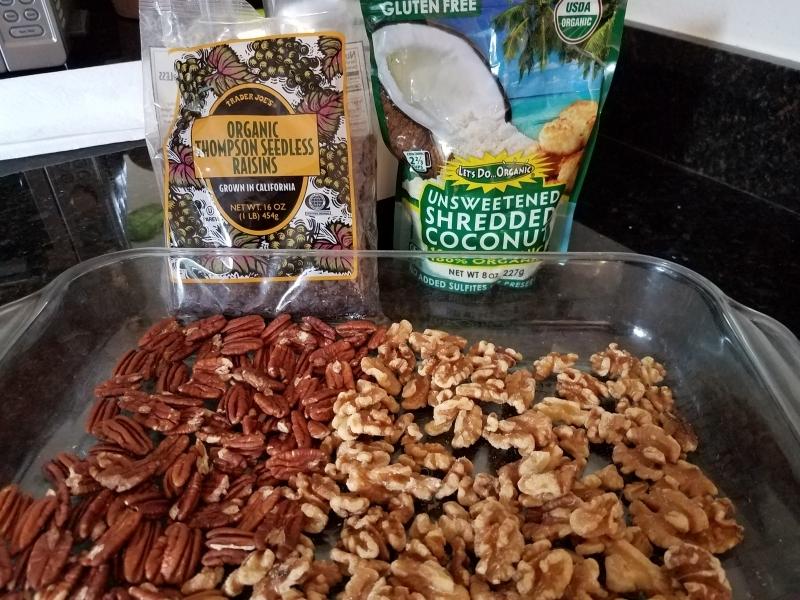 Raw granola prep