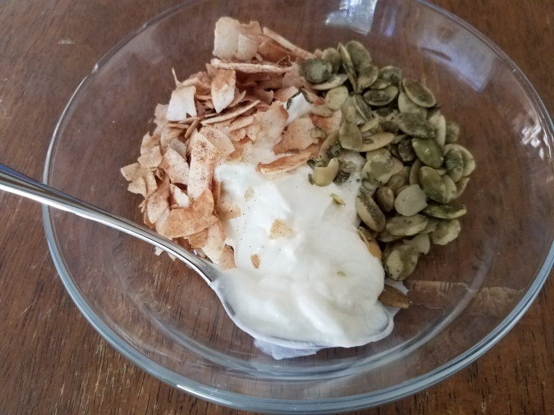 Pumpkin seed topping