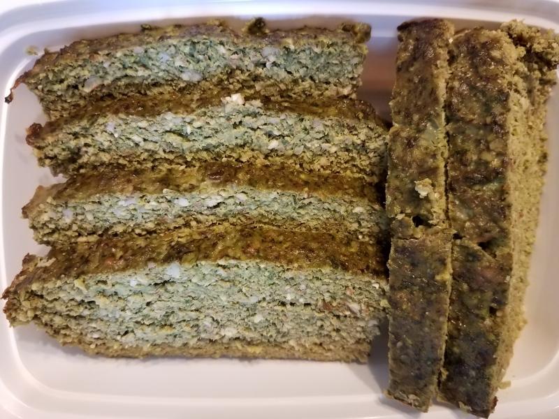 Pecan spinach turkey loaf